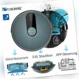 Proscenic 820 Staubsauger Roboter Saugroboter Mit Wischfunktion APP WLAN Alexa