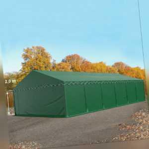 Lagerzelt 6x12m Zelthalle Weidezelt mit Bodenrahmen PVC Zelt Unterstand grün