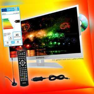 Lenco DVL-2862 WH 70cm TV DVB-T2/S2/C 12V 230V Fernseher DVD-Player CI+ EEK A