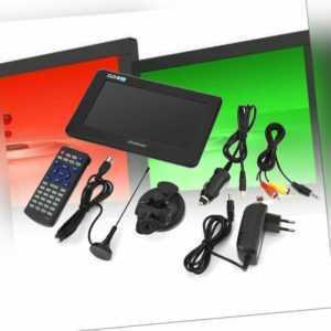 """7"""" TFT LED Mini TV DVB-T-T2 16: 9 HD Digital Analog Auto Fernseher tragbar"""