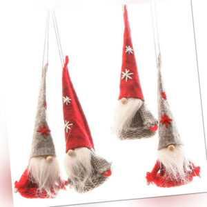 Wichtel 4er Satz Weihnachtsartikel Dekofiguren Weihnachten Deko