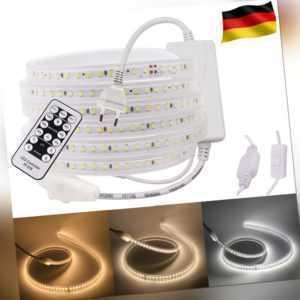 230V LED Stripe Streifen Licht Band Leiste Innen Außen Wasserdicht Lichtschlauch