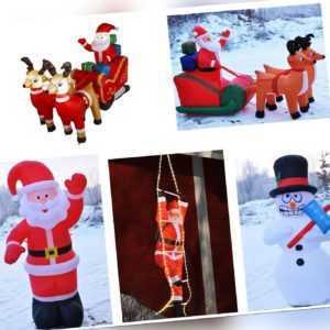 Weihnachtsdeko selbstaufblasend zb. Weihnachtsmann mit LED Modellauswahl