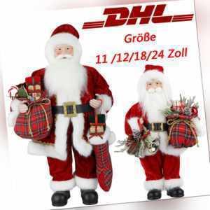 Weihnachtsmann Nikolaus Figur Santa X-mas Claus Weihnachten Deko 28/30/45/60cm