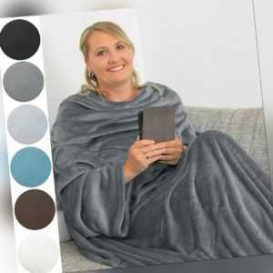 TV Kuscheldecke Decke mit Ärmeln Sofadecke Ärmeldecke Wohndecke