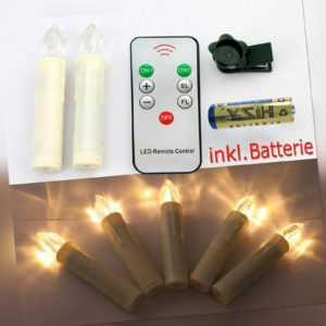 LED Weihnachtskerzen 10-60er Set kabellos für Außen und Innen, inkl. Batterien
