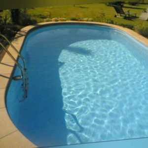 Beckenrandsteine Beton Pool oval Poolumrandung Ovalpool Umrandung Betonsteine
