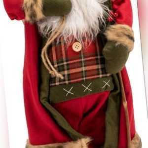 90cm Weihnachten Nikolaus Santa Claus RED Weihnachtsmann Figur Weihnachts Deko