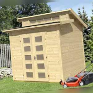 28 mm Gartenhaus Gent ca. 250x250 cm Gerätehaus Holzhaus Schuppen Blockhaus Holz