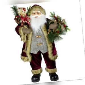 Deko Figur Weihnachtsmann Aaron 80cm Weihnachts Dekoration Nikolaus Santa Rot