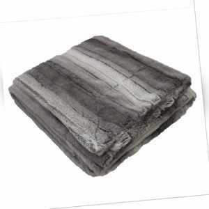 Plaid, Polyester, Grau, 220 x 180 cm  - Douceur d'intérieur