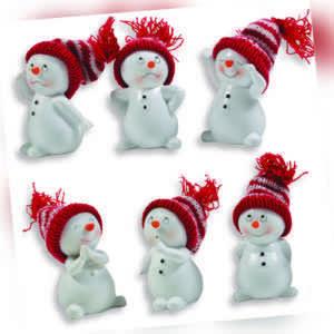 Weihnachtsdeko Dekofiguren Schneemänner Schneekinder Figuren Deko Winter 9,5cm