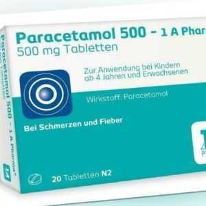 Paracetamol 500 1 A Pharma Tabletten 20 St PZN: 2481587