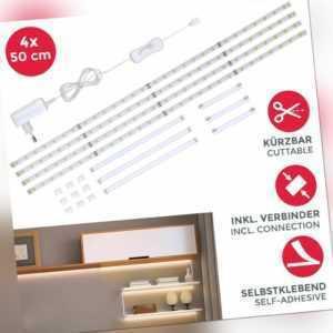 LED Band Unterbauleuchte Lichtleiste Schrank-Beleuchtung Stripes Streifen SET 2m