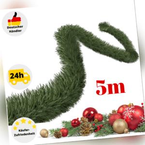 Tannengirlande Weihnachtsgirlande 5m Künstlich Außen Girlande Weihnachtsdeko