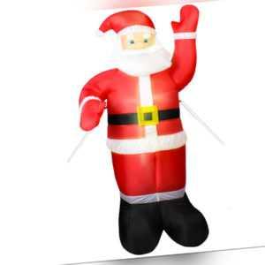 Weihnachtsmann Aufblasbar LED beleuchtet 180 cm innen außen Weihnachtsdeko 4781