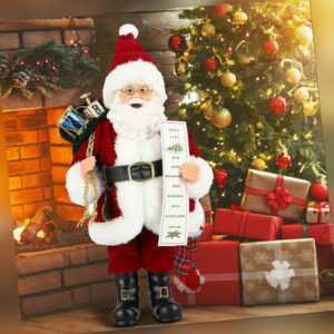 31cm Weihnachten Figur Nikolaus Santa Claus Weihnachtsmann Mitte Weihnachts Deko