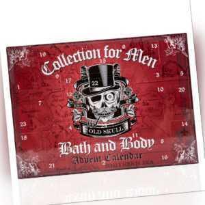 Beauty Adventskalender für Männer Bath & Body Weihnachten Totenkopf Skull