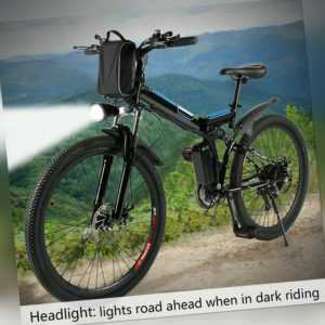 Faltbares E-Bike 26 Zoll Elektrofahrrad Mountainbike Klapprad Citybike 36V 250W