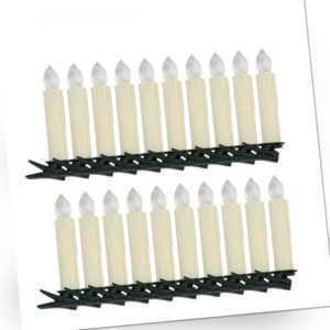 LED Weihnachtskerzen 30X Warmweiß Weihnachtsbaumbeleuchtung Weihnachtsdeko