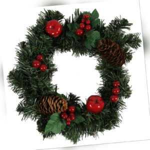 Weihnachtskranz Türkranz Kranz Weihnachten Deko Tür Tisch künstlich rot 25cm