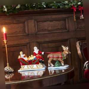 VILLEROY & BOCH Christmas Toys Schlitten Nostalgie Santa Claus Porzellan Deko