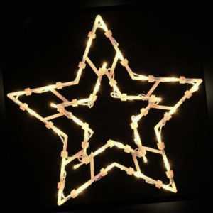 LED Fenster-Silhouette Stern 35 Lichter Timer Fensterbild Weihnachten beleuchtet