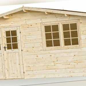 34 mm Gartenhaus Aktion SALZ 6 + Schindeln Gerätehaus 5x4 m Blockhaus Holzhaus