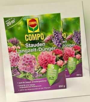 2 x Compo Stauden Langzeit-Dünger 850g (=1,7kg) Garten Blumen Blumendünger