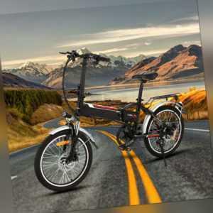 Elektro Klapprad E-Bike 20 Zoll Pedelec Elektrofahrrad 250W 36V Motor Citybike