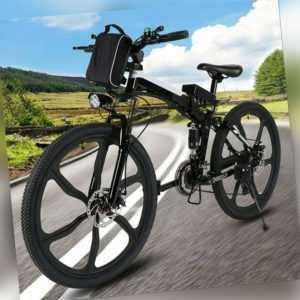 Elektrofahrrad,26 Zoll Klapprad E-Bike Mountainbike 250 W Motor 21-Gang Pedelec