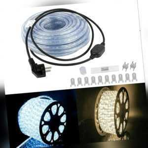 6-100M LED Lichterschlauch Lichtschlauch Lichterkette IP65 Schlauch Außen Xmas