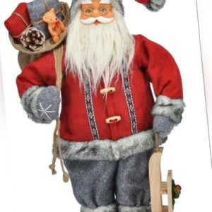 Weihnachtsmann Höhe 45 cm Rot Dekofigur Santa Nikolaus Weihnachtsdekoration HI