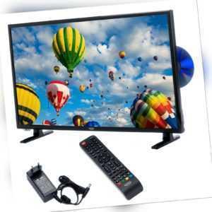 Camping LED TV Fernseher XORO HTC 2448 DVD Laufwerk 24 Zoll SAT DVB-T2 USB PVR