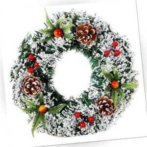 Weihnachten Türkranz Weihnachtskranz Adventskranz Türgirlande Ornament Partydeko
