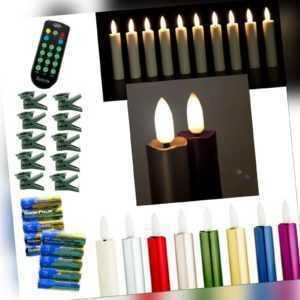 Echtflamme-LED Christbaumkerzen,Fernbedienung Timer,Baumkerzen,Weihnachtskerzen