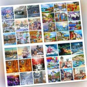 DIY Malen nach Zahlen 40 x 50 cm Kit Digitales Ölgemälde Kunstwerk Wohnkultur