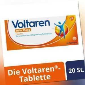 VOLTAREN Dolo 25 mg überzogene Tabletten 20 St PZN 00927263