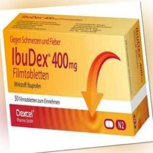 IBUDEX 400mg Ibuprofen 50 Filmtabletten PZN 9294687