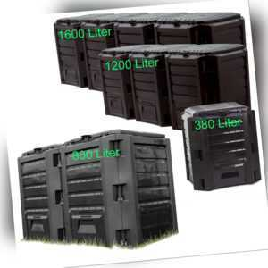 Schnellkomposter 380L 800L 1200L 1600L Schwarz Gartenkomposter Komposter Thermo