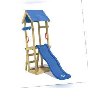 WICKEY Spielturm Kletterturm TinySpot Blaue Rutsche Garten Spielplatz Kinder