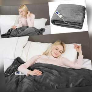 Grafner® XXL Heizdecke Wärmedecke elektrische Timer Wärmeunterbett