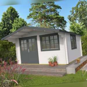 34 mm Gartenhaus 5x4 m ALBU6 INCLUSIVE MONTAGE Gerätehaus Holzhaus Datsche