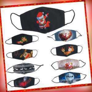 Weihnachten Santa Claus Behelfsmaske Mund-Nasen-Maske Gesichtmaske Stoffmaske