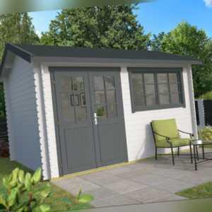 28 mm Gartenhaus 400x300cm Blockhaus Holzhaus Gerätehaus Schuppen Holz Holzhütte
