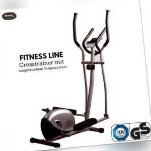 Fitness Line Crosstrainer magnetisches Bremssystem  max 100kg Griff mit Sensoren