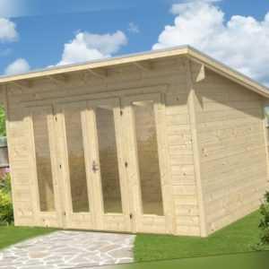 28 mm Gartenhaus Ostende 1 ca. 350x250 cm Gerätehaus Holzhaus Schuppen Blockhaus