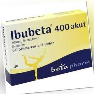 IBUBETA 400 akut 20 Filmtabletten 400mg Ibuprofen PZN 179737