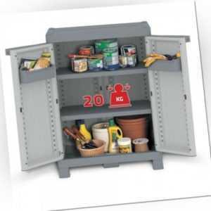 XL Balkonschrank Gartenschrank Haushaltsschrank Kunststoffschrank Schrank WAVE