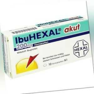 IBUHEXAL akut 200 Filmtabletten 10 St 02222420